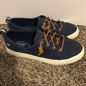 SPERRY Topsider Women's Navy Boat Shoes- Size 8